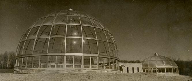 Hidden Lake Gardens Conservatory exterior, 1968