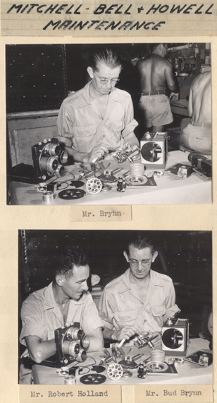 Mitchell, Bell and Howell camera maintenance, 1945-1946