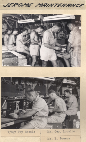 Jerome Camera Maintenance, circa 1945