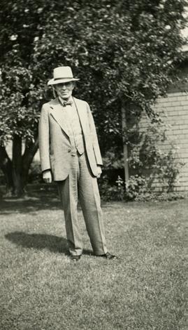 Harold Fee at Hidden Lake Gardens, circa 1930