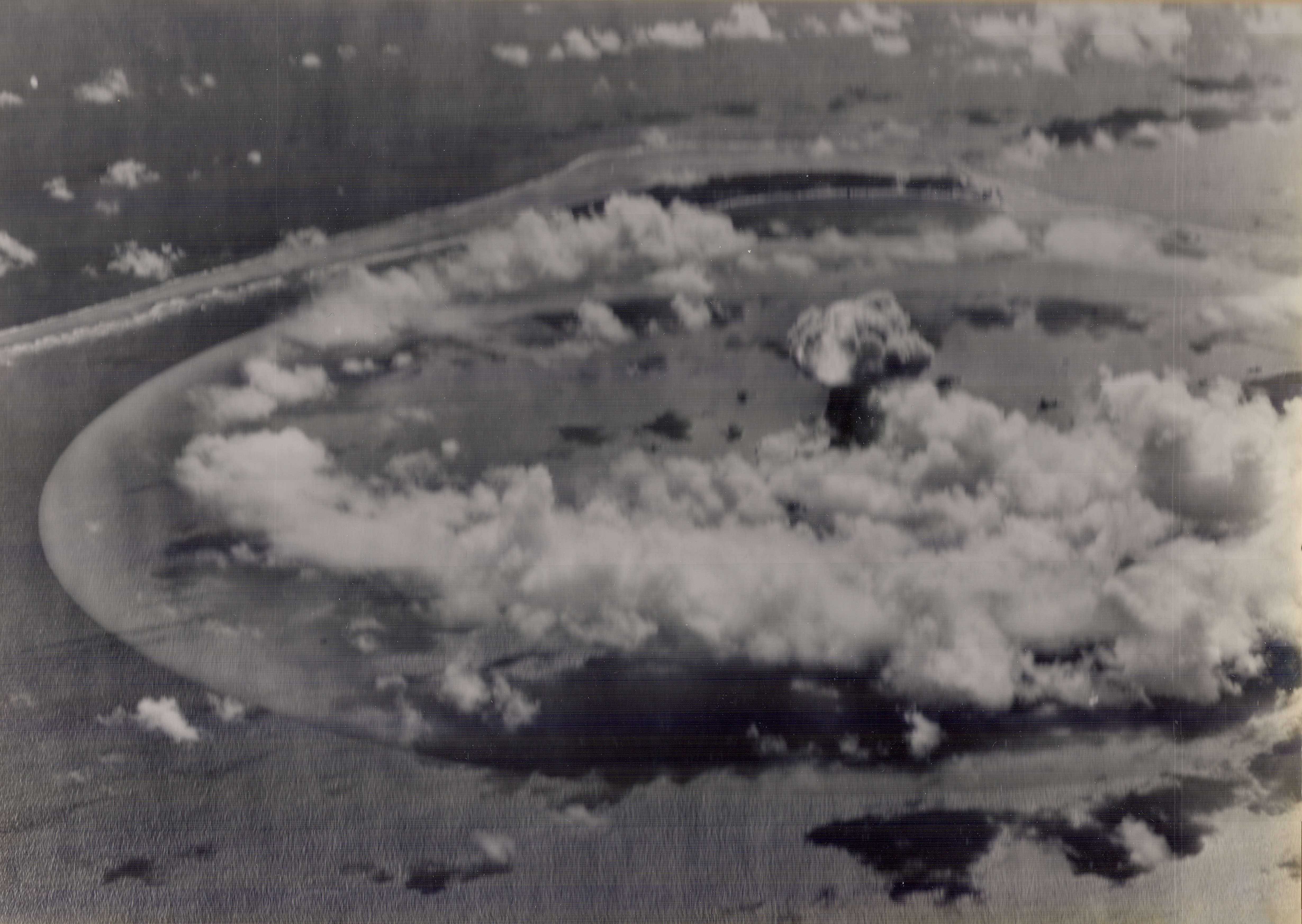Nuclear Test Explosion From the Air, 1945-1946