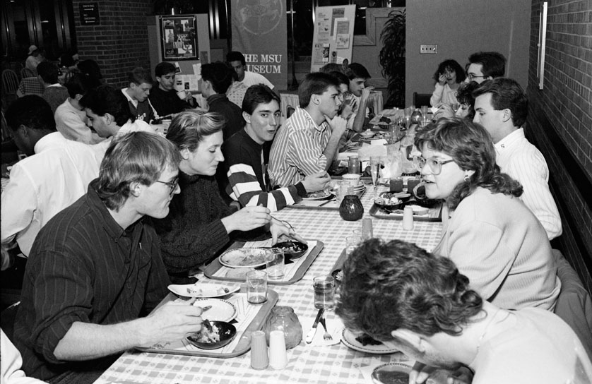 A special dinner in Case Hall, 1989