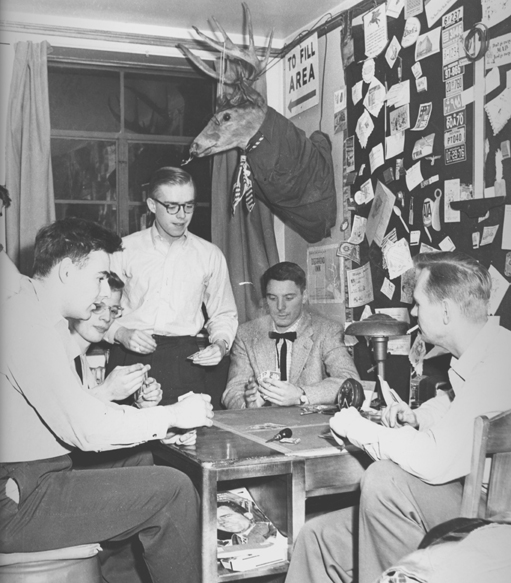 Dorm Room Card Game, circa 1954