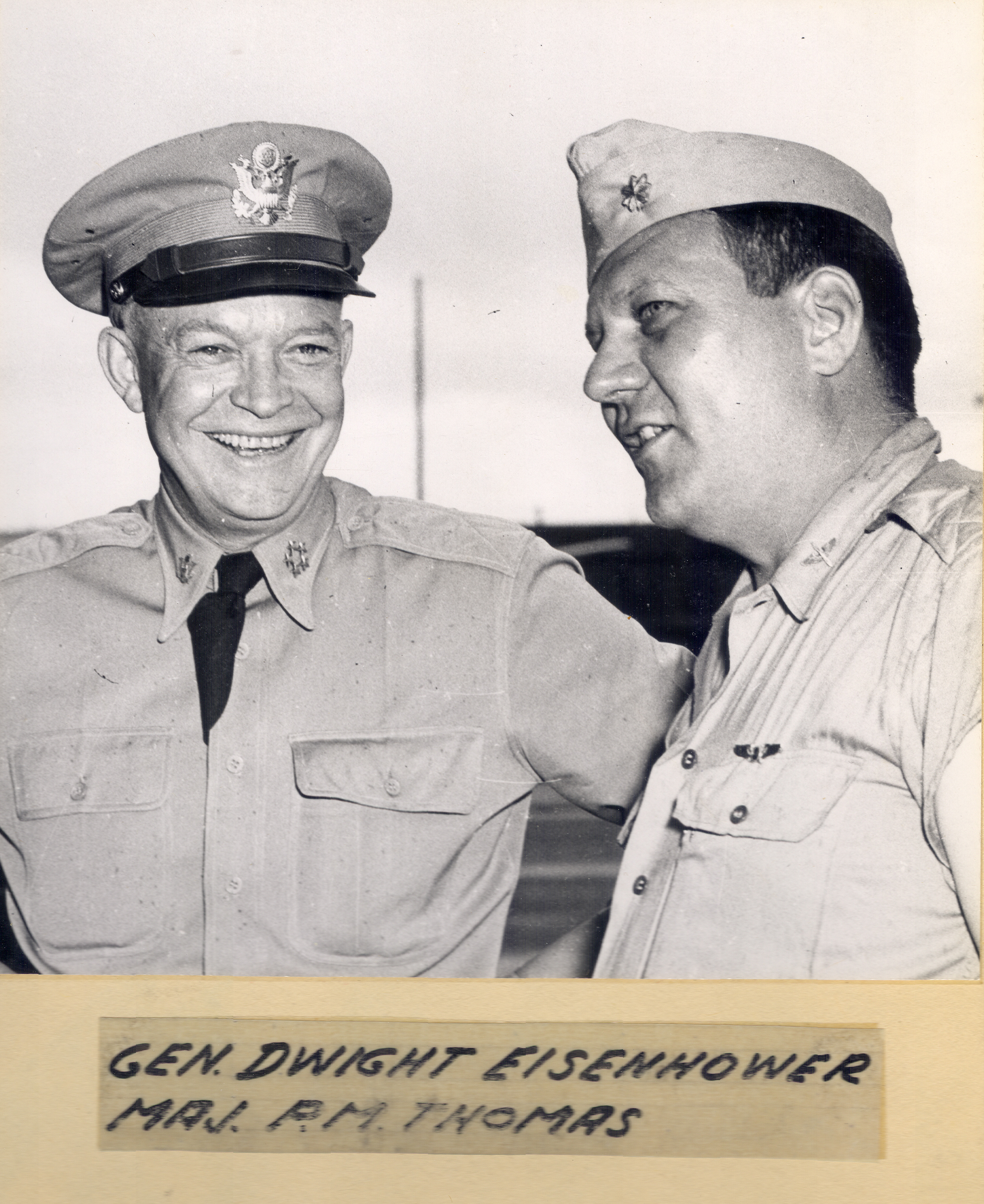 General Dwight Eisenhower and Major Perry M. Thomas, 1945-1946