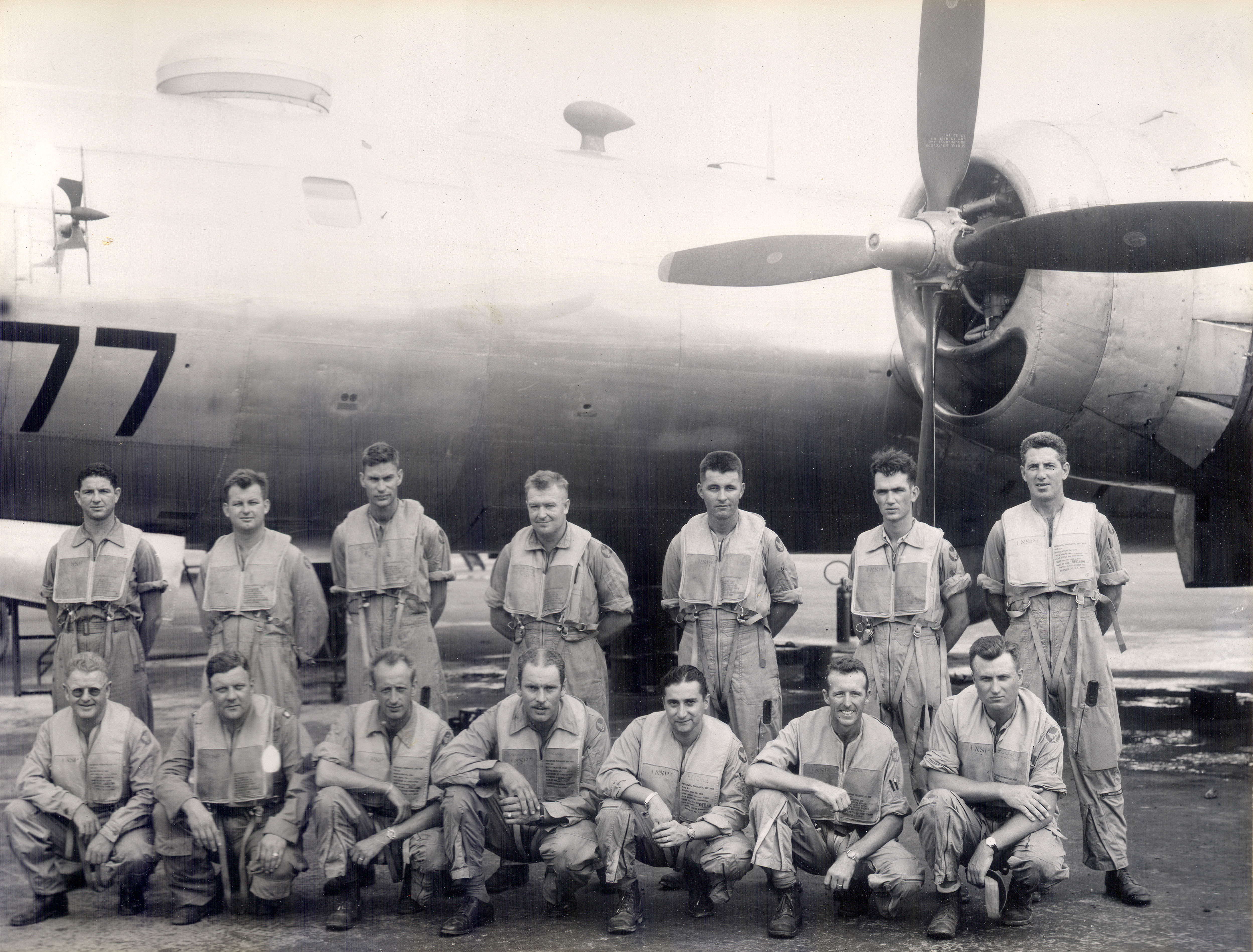 Task Unit 1.52 Air Crew including Major Perry M. Thomas, 1945-1946