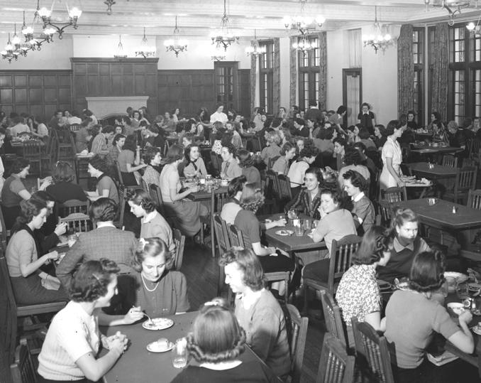 Women's Dorm Cafeteria, 1950s