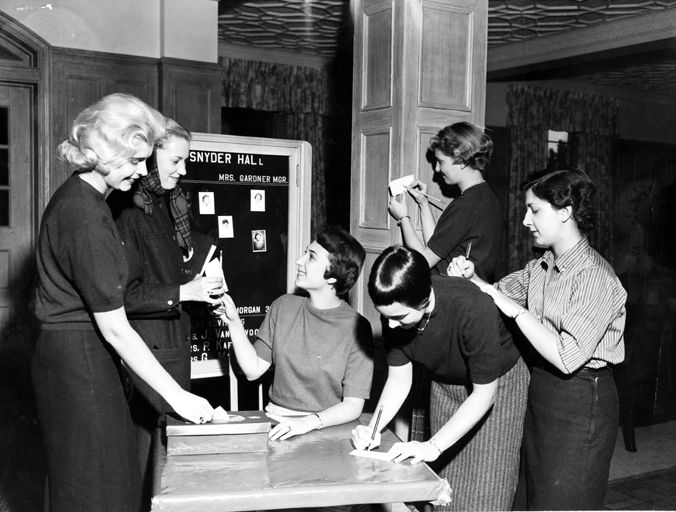 Casting Ballots at Snyder Hall, 1958