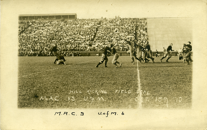 M.A.C. vs. University of Michigan football game, 1910