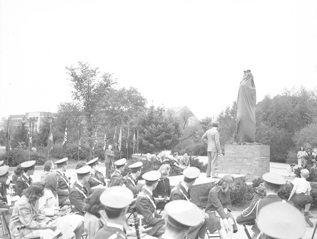 Spartan Statue Unveiling, 1945