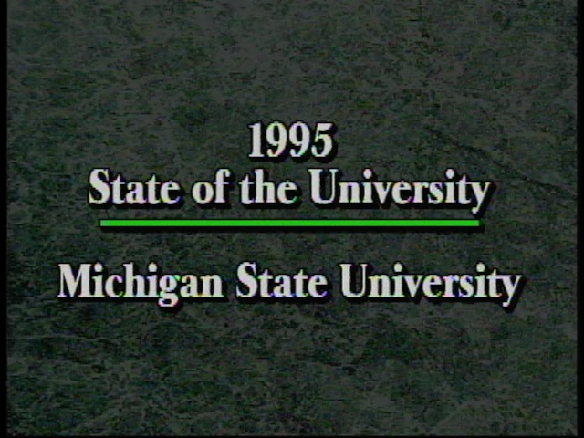 State of the University Address, 1995
