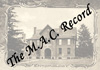 The M.A.C. Record; vol.38, no.11-12; July-August 1933