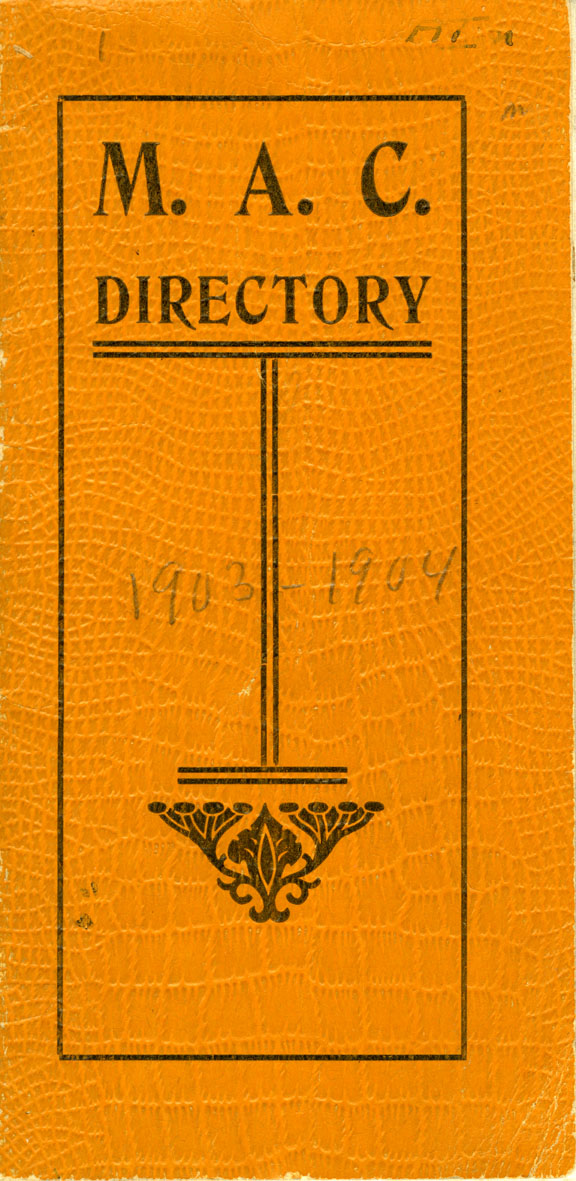 1903-1904 Michigan Agricultural College Faculty and Student Directory