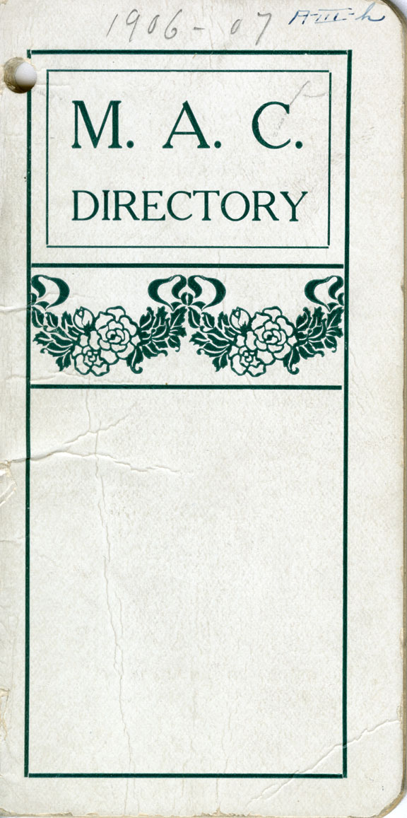 1906-1907 Michigan Agricultural College Faculty and Student Directory