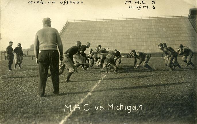 M.A.C. vs University of Michigan football game