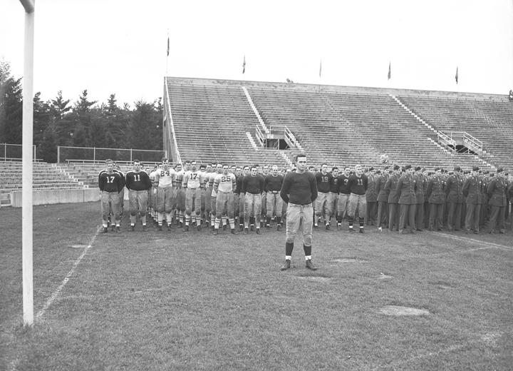 Campus football leagues in formation, November 6, 1943
