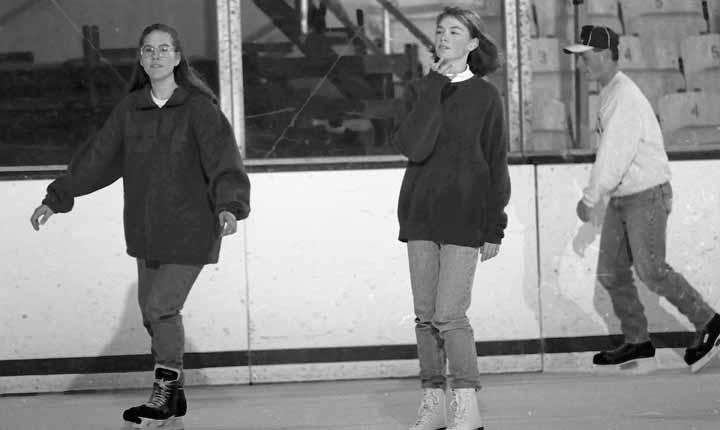 3 People Skating at Munn Arena