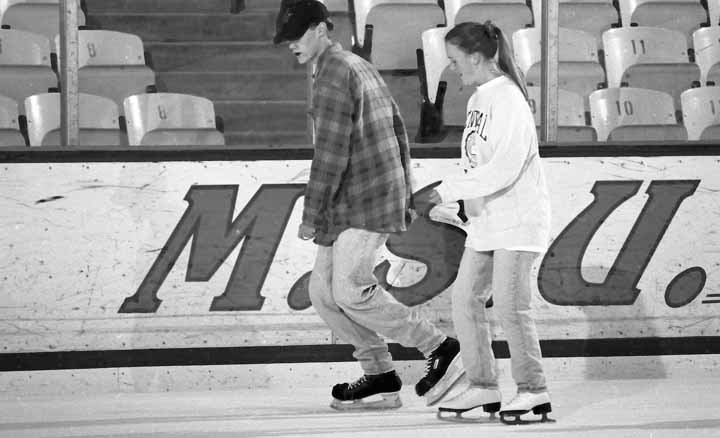 A Pair Skating at Munn Arena