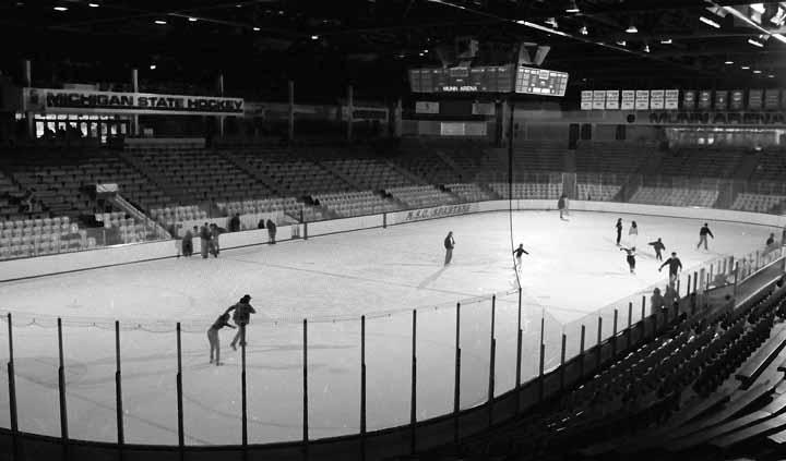 Interior of Munn Arena Ice During Recreational Skating