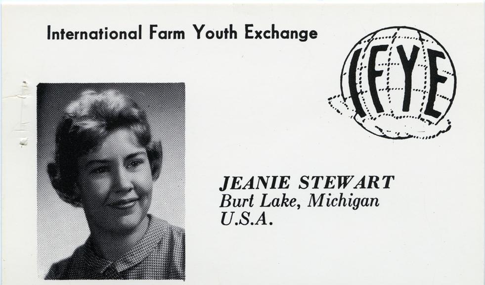 Jean Stewart's ID Badge, 1962