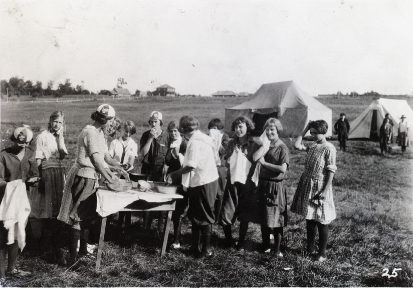 4-H Girls Chatham Camp, 1921