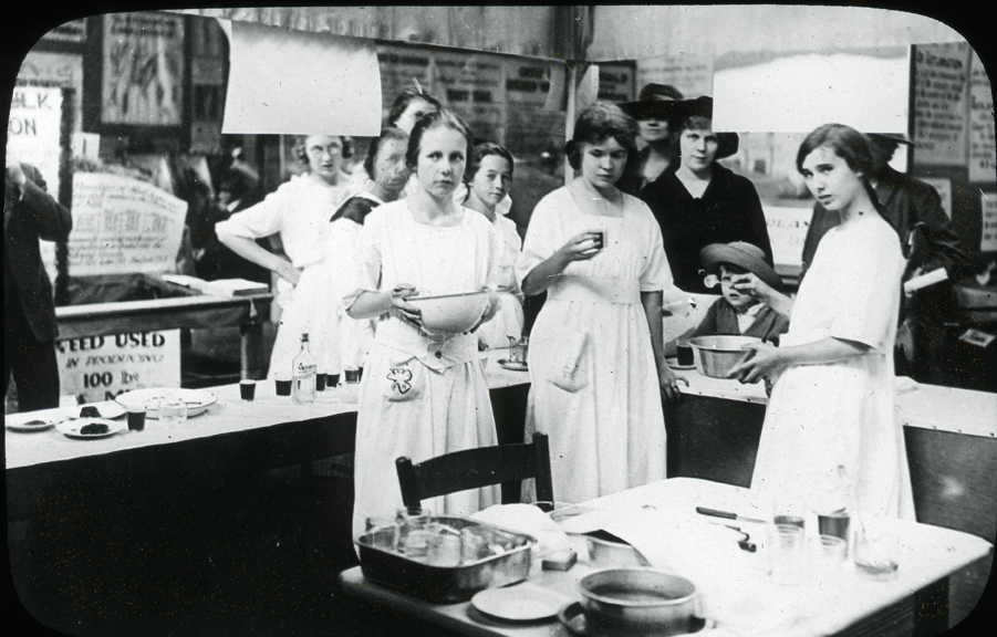4-H Cooking Club Demonstration, undated