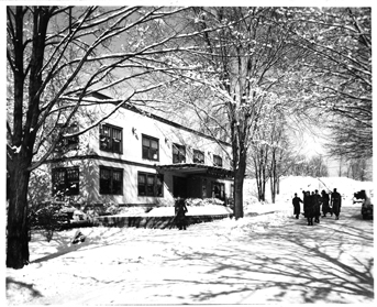 North Hall in winter, 1944