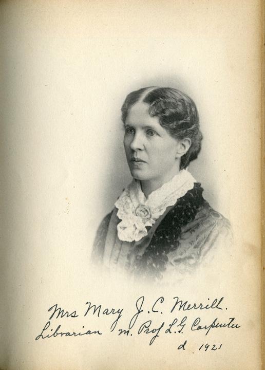 Mrs. Mary J. C. Merrill, 1885