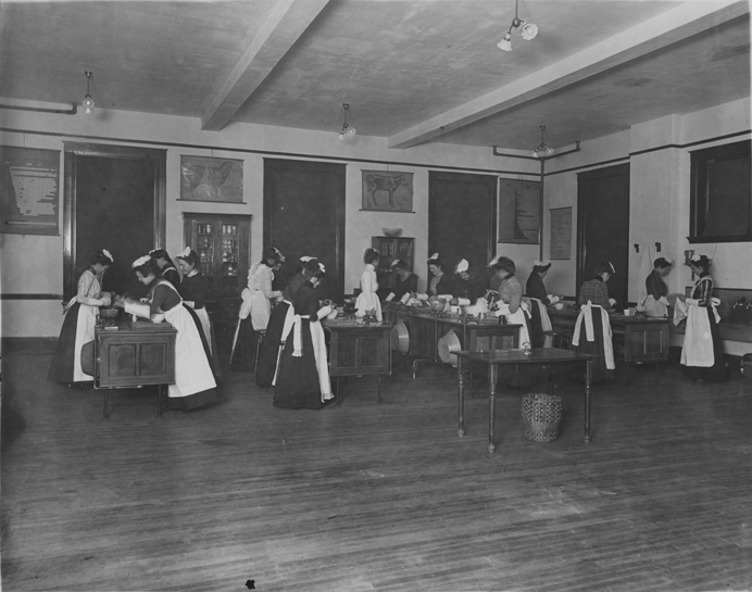 First Cooking Class, 1900