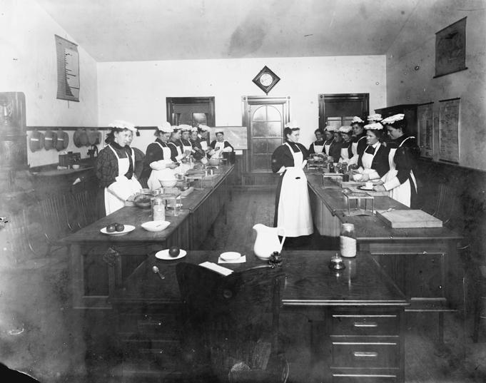 Cooking Class, circa 1896