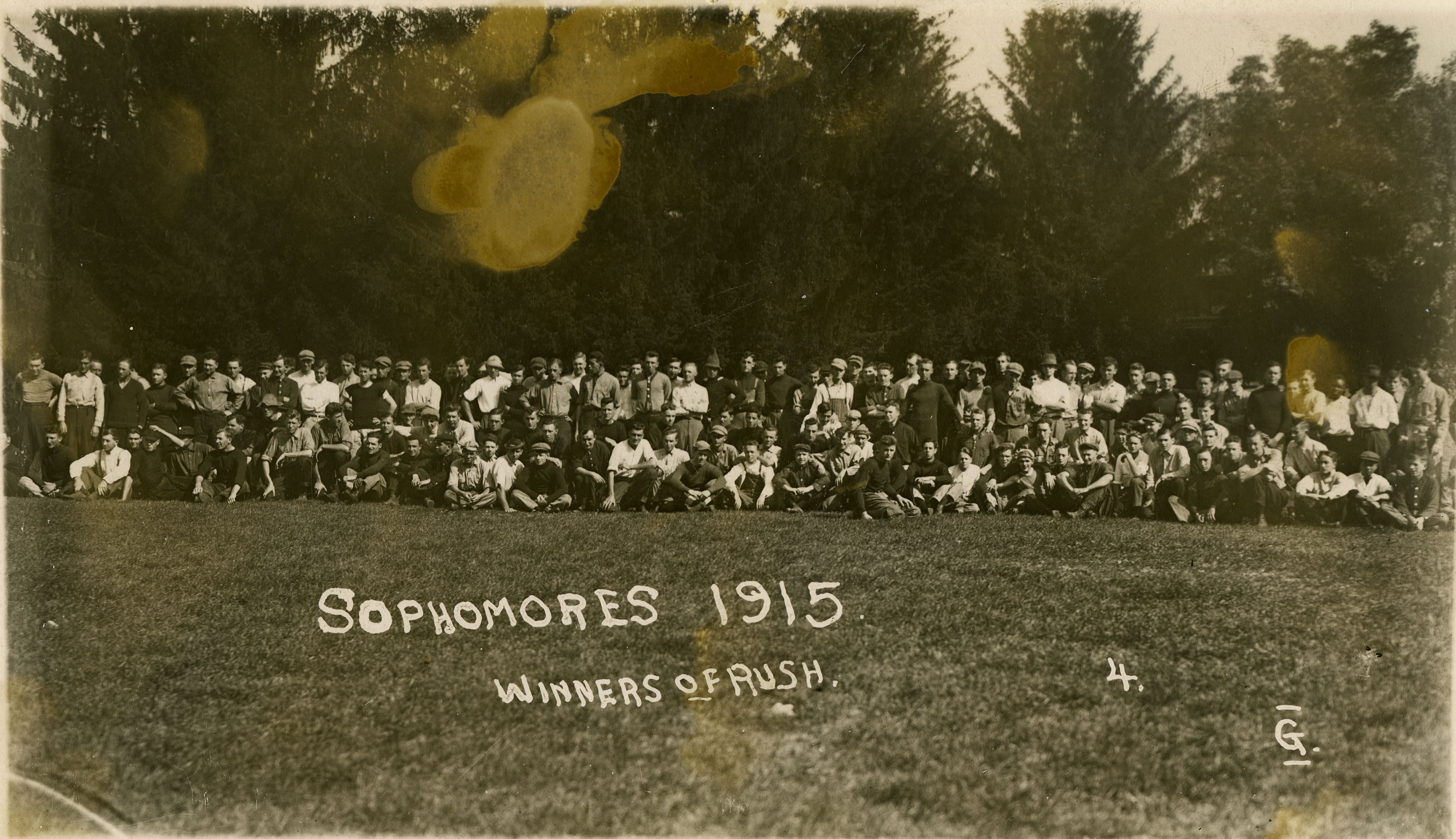 Class of 1915, sophomores, winners of Class Rush, date unknown