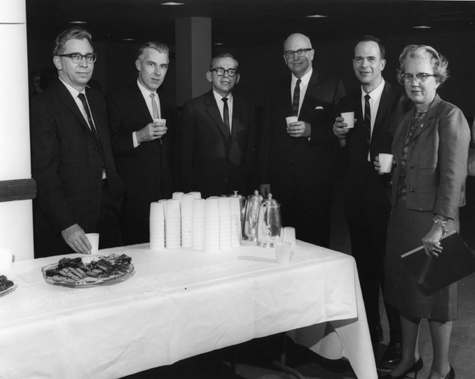 Faculty at a Refreshment Table, January 27, 1964