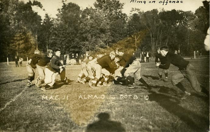 M.A.C. vs. Alma football game, 1910