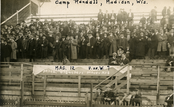 Fans at a M.A.C. vs. University of Wisconsin football game