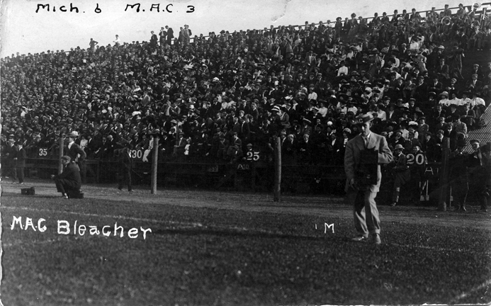 Fans at a M.A.C. vs. University of Michigan football game, ca. 1910