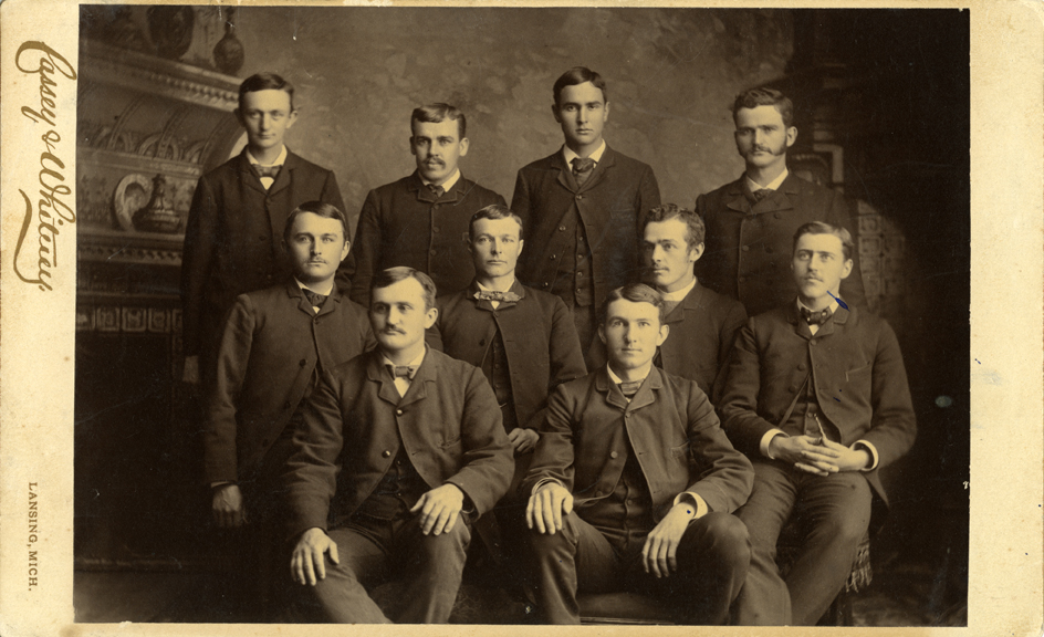 Students posed for a class photo, 1886