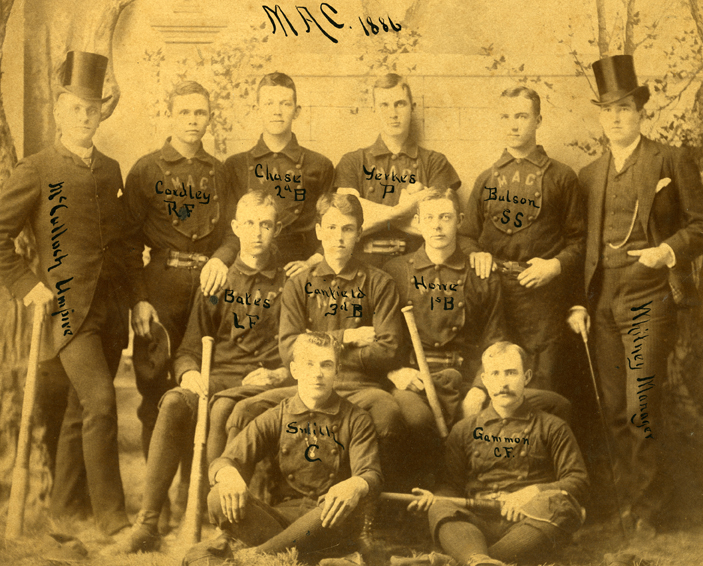 MAC Baseball Team Photograph 1886