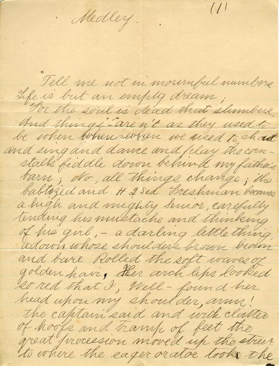 """""""Medley"""", 1886"""