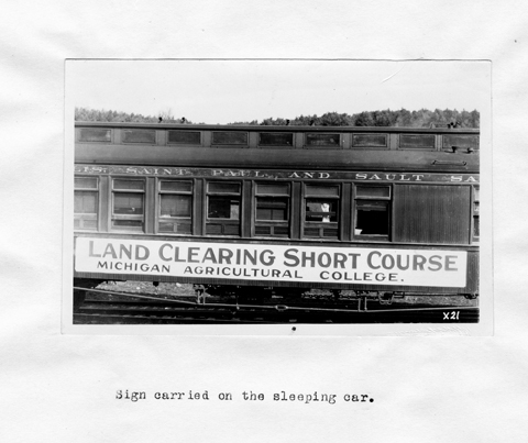 Land Clearing Short Course Train Car