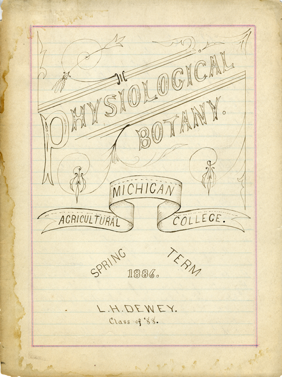 Physiological Botany Notes, 1886