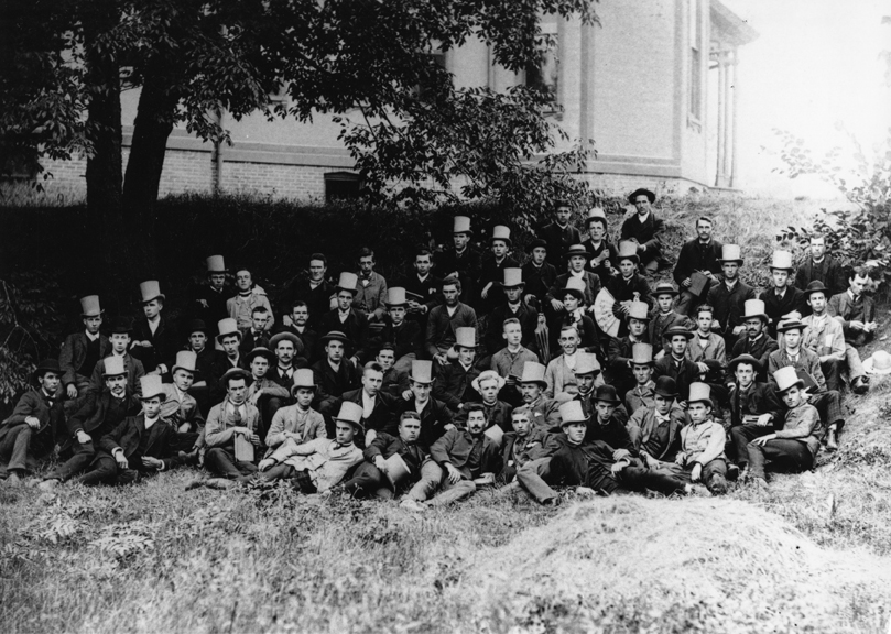 Class of 1889 as sophomores, 1886-1887