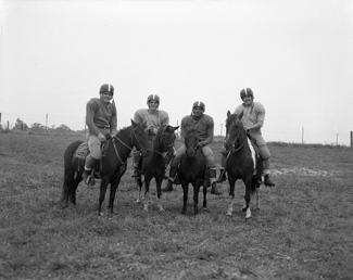 Pony Backfield of the 1953-1954 Spartan Football team