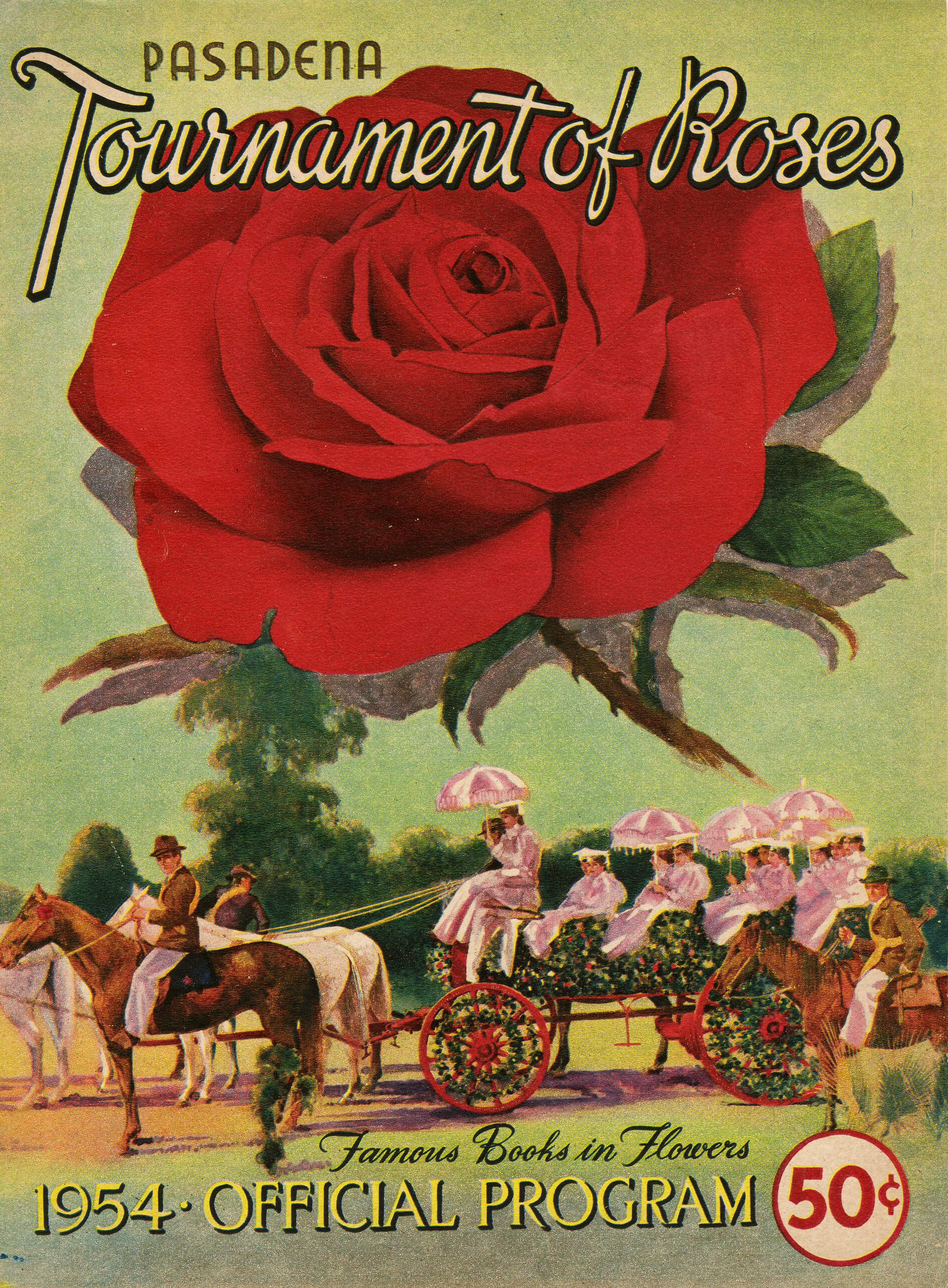1954 Tournament of Roses parade program cover