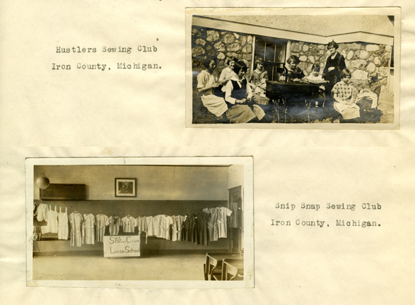Sewing Clubs of Iron County, Michigan