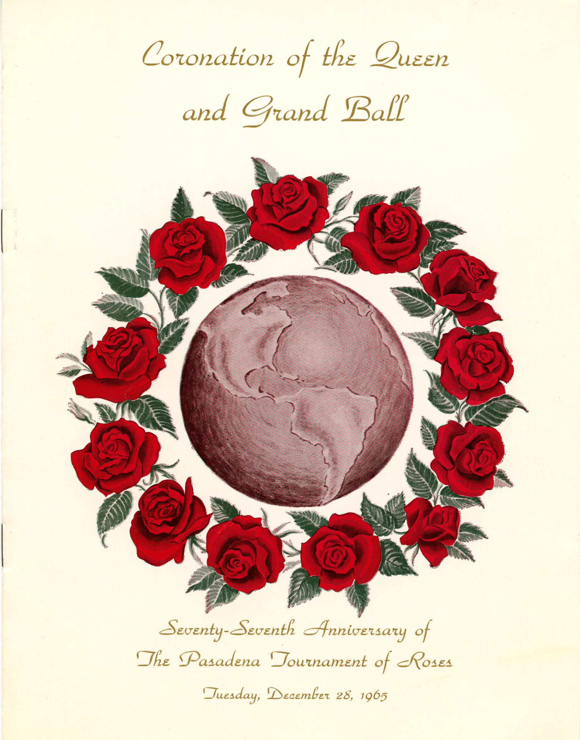 Rose Bowl Grand Ball program, 1965