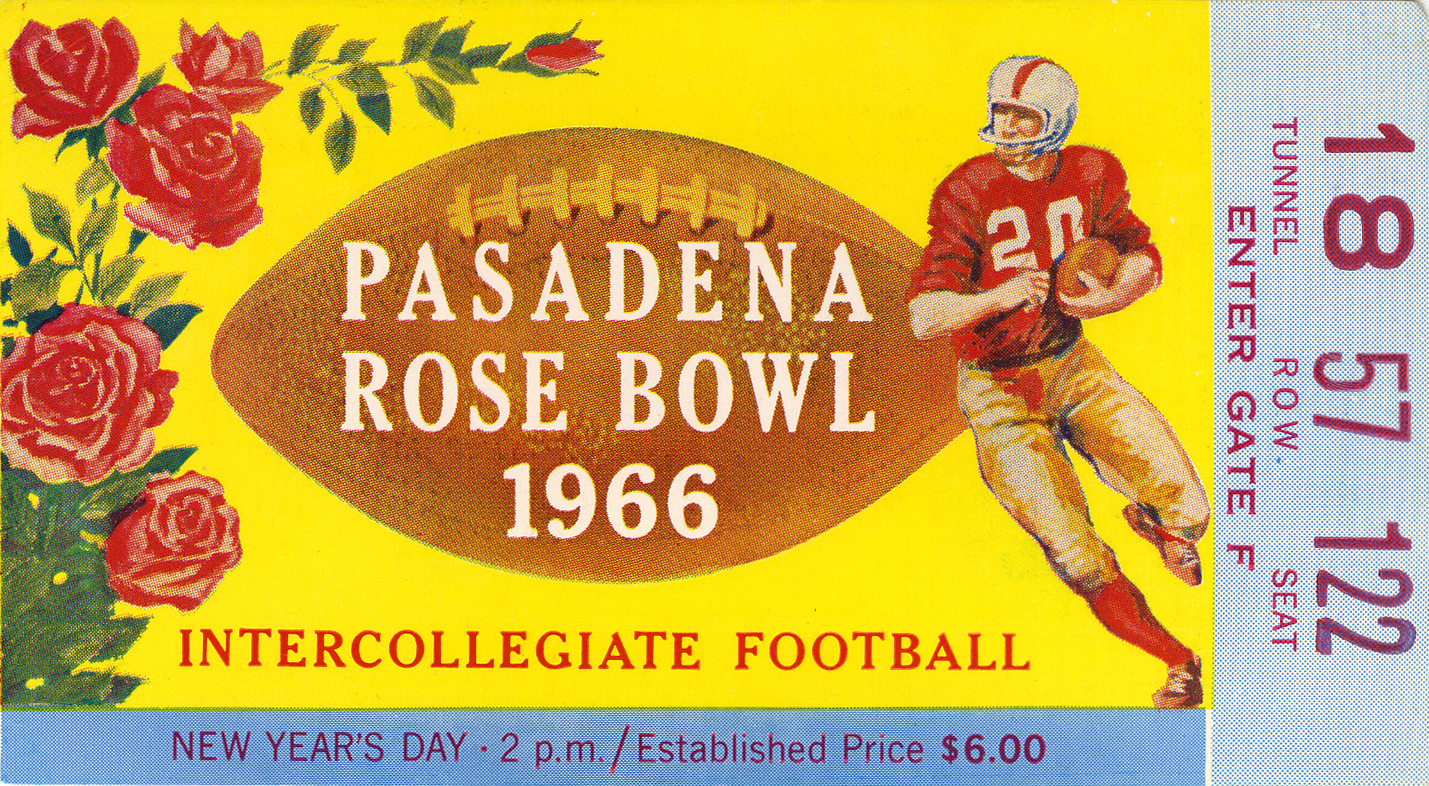 Pasadena Rose Bowl 1966 ticket