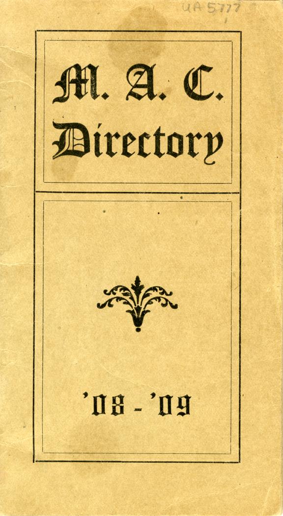 1908-1909 MAC Directory