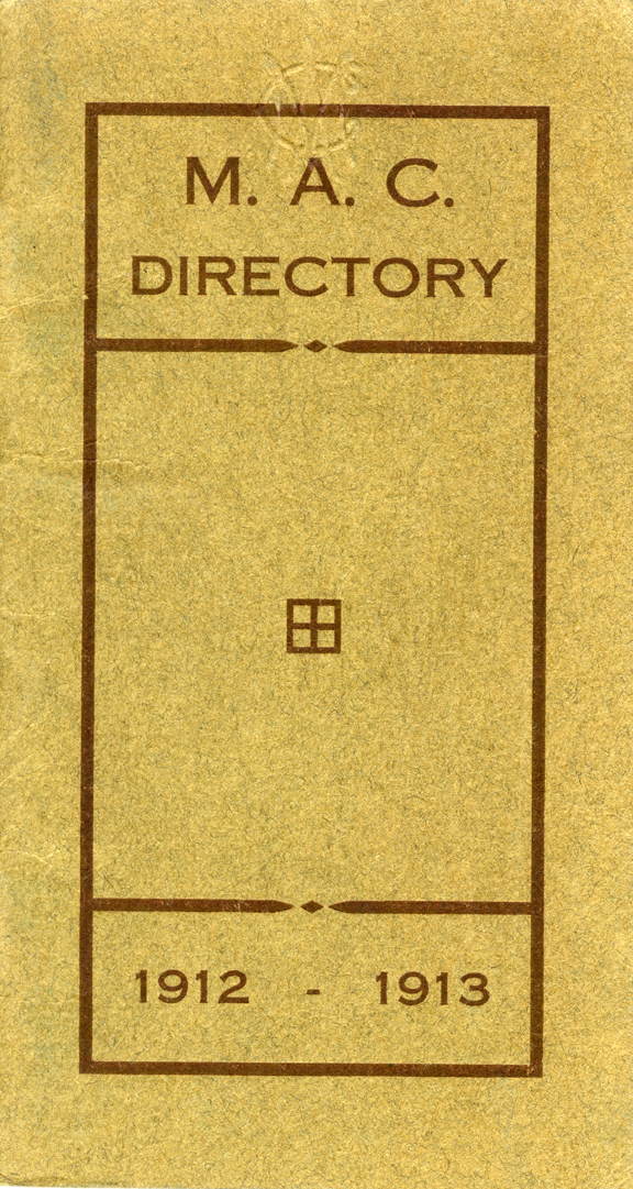1912-1913 Michigan Agricultural College Directory