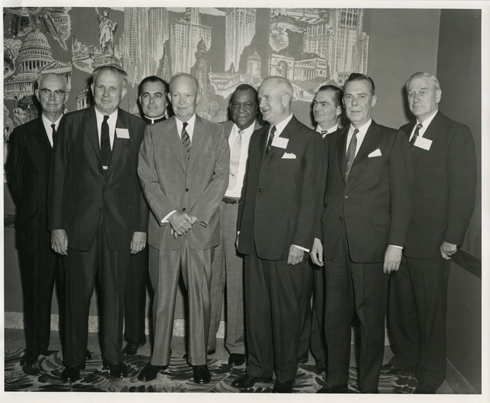 Civil Rights Commission with President Eisenhower, 1959