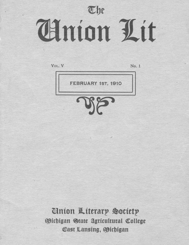 Ye Union Lit Speculum; 1910, Vol.05, No.01