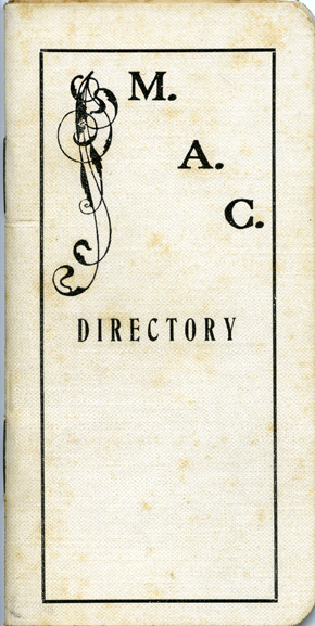 1905-1906 Directory of Faculty and Students